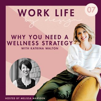 WORK LIFE by design podcast Why you need a wellness strategy with Katrina Walton